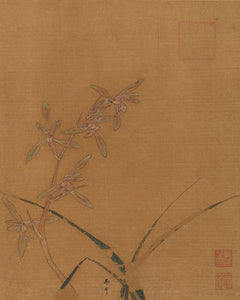 Poly Canvas Print - The Masters - Ma Lin - Orchids second quarter of the 13th century
