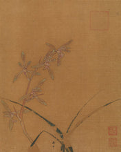 Load image into Gallery viewer, Poly Canvas Print - XXL - The Masters - Ma Lin - Orchids second quarter of the 13th century