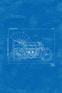Poly Canvas Print - XXL - Patent Drawing - 1919 Cycle Car