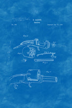Load image into Gallery viewer, Poly Canvas Print - Float Frame - Patent Drawing - 1838 Revolver
