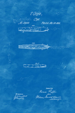 Poly Canvas Print - Float Frame - Patent Drawings - 1869 Cigar