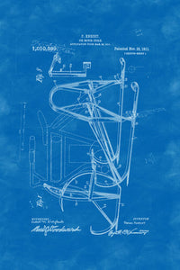 Poly Canvas Print - XXL - Patent Drawing - 1911 Icecycle