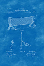 Load image into Gallery viewer, Poly Canvas Print - Float Frame - Patent Drawing - 1883 Tennis Net