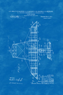 Poly Canvas Print - Patent Drawing - 1911 Flying Machine