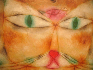 Poly Canvas Print - XXL - The Masters - Paul Klee - Cat & Bird