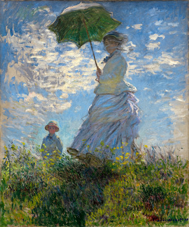 Poly Canvas Print - Float Frame - The Masters - Woman with a Parasol - Madame Monet and Her Son
