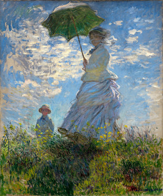 Poly Canvas Print - XXL - The Masters - Woman with a Parasol - Madame Monet and Her Son