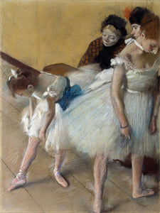 Poly Canvas Print - Float Frame - The Masters - Edgar Degas - Dance Examination (Examen de Danse)