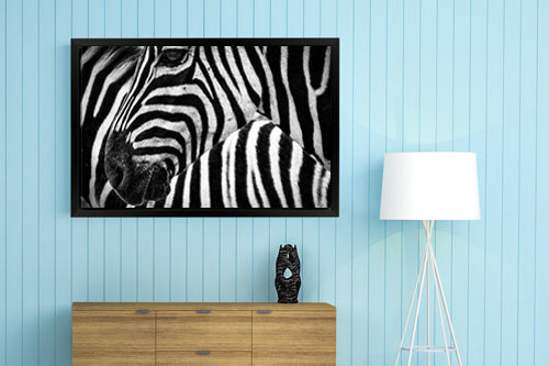 Landscape Mode Gallery Wrap Photo Canvas Print with Matte Black Floating Frame - Large Sizes 16