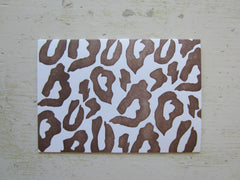 leopard brown folded notes