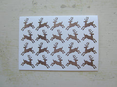 reindeer brown folded notes
