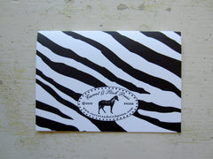 zebra black folded notes