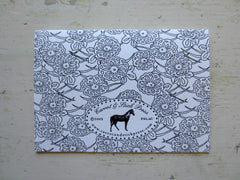 lace black folded notes