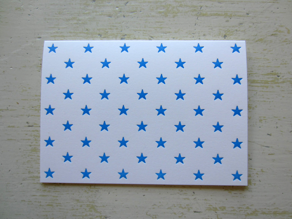 star blue folded notes
