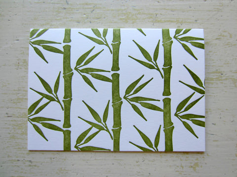 bamboo olive folded notes