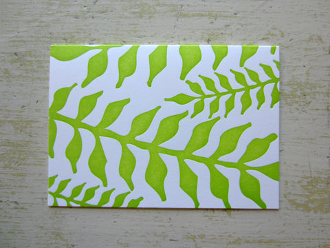 fern lime folded notes