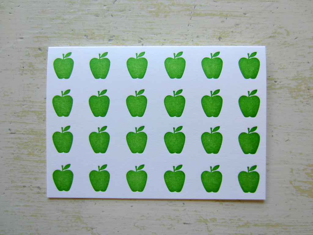 apple green folded notes