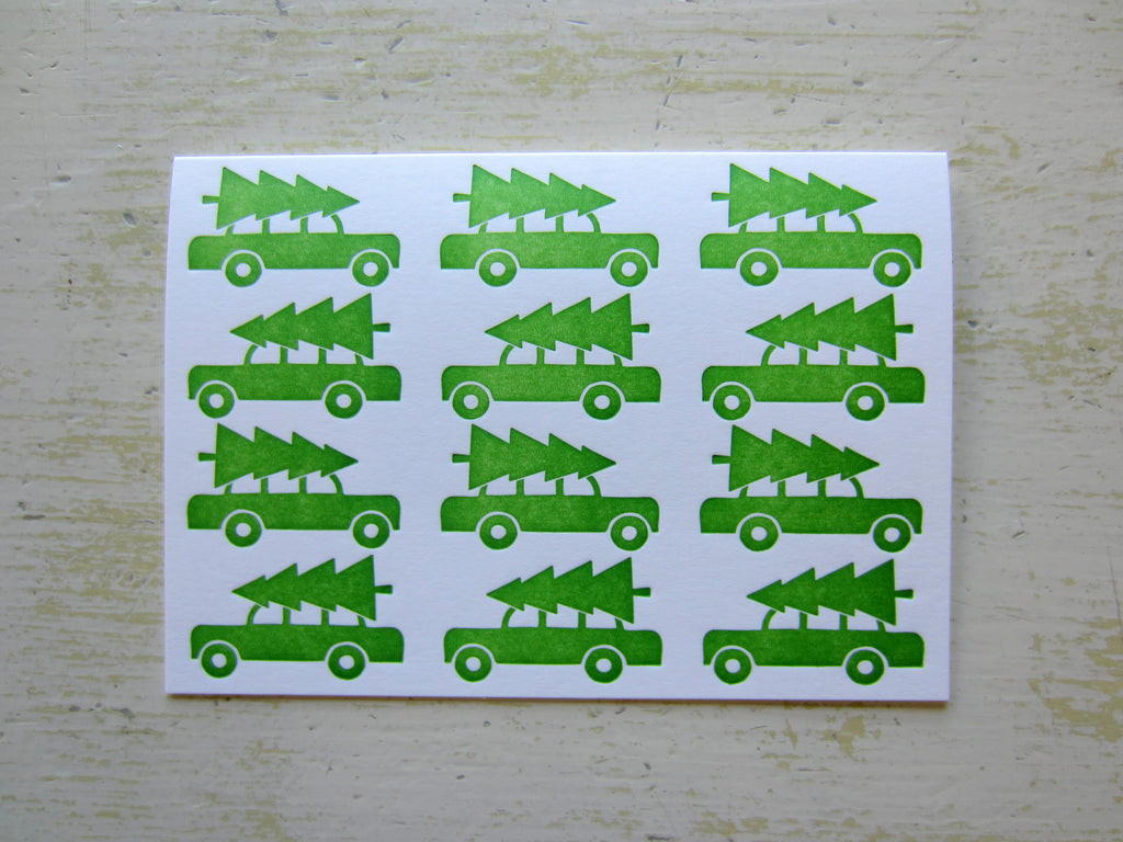 tree green folded notes
