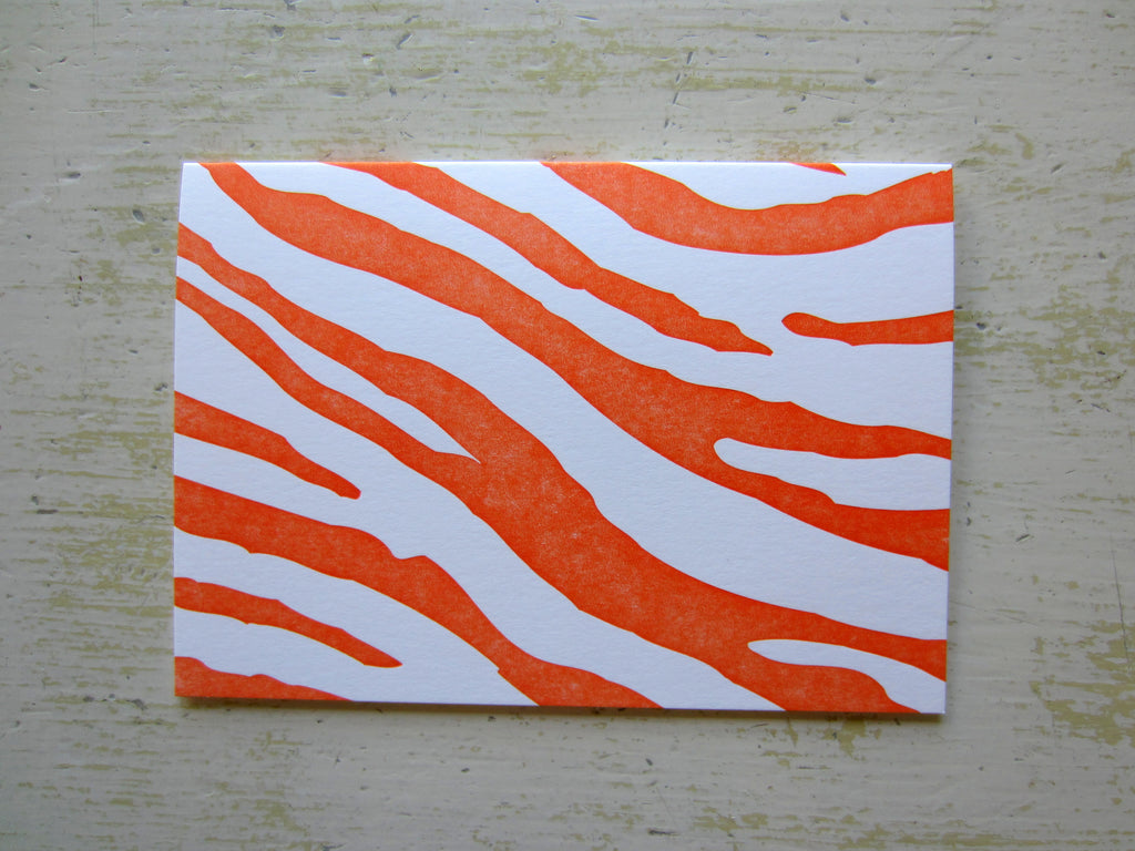 zebra orange folded notes
