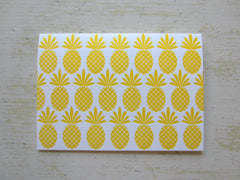 pineapple yellow folded notes
