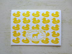 duck yellow folded notes