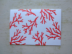 coral tomato folded notes