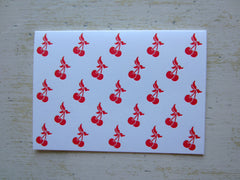 cherry red folded notes