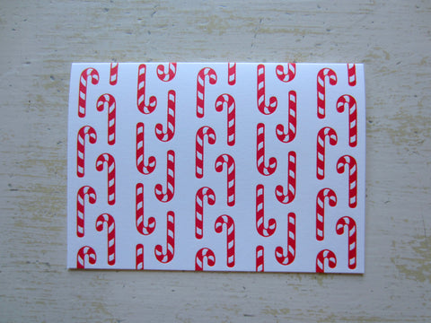 candy cane red folded notes