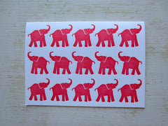 elephant red folded notes