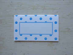 polka dot blue place cards