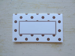 polka dot brown place cards