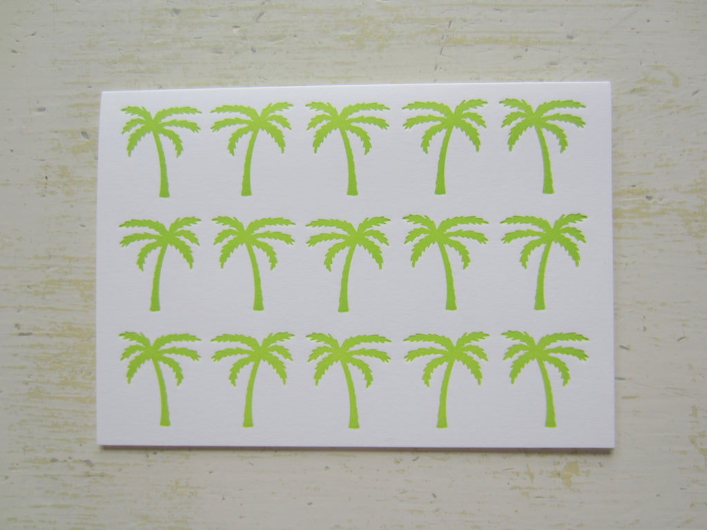 palm tree lime folded notes