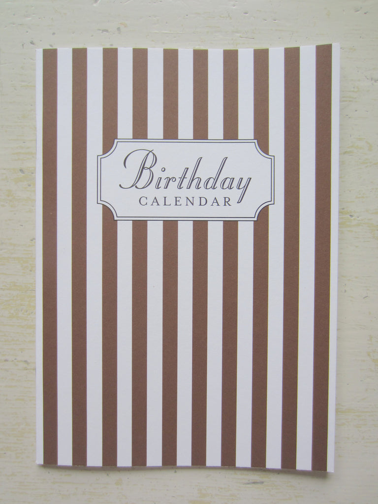 birthday calendar brown