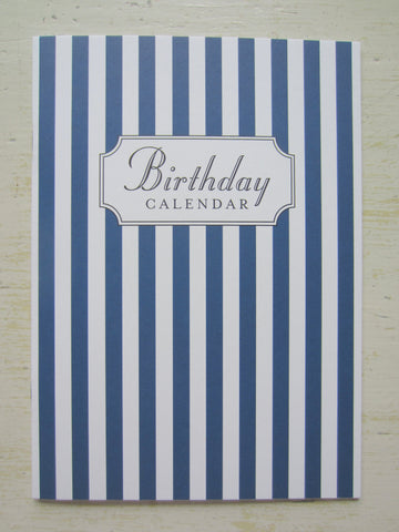 birthday calendar navy