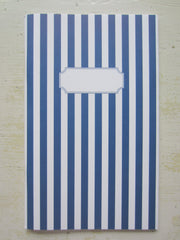 stripe navy note book