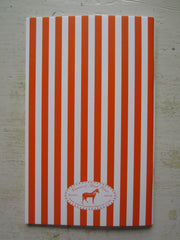 stripe orange note book