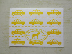 taxi yellow folded notes