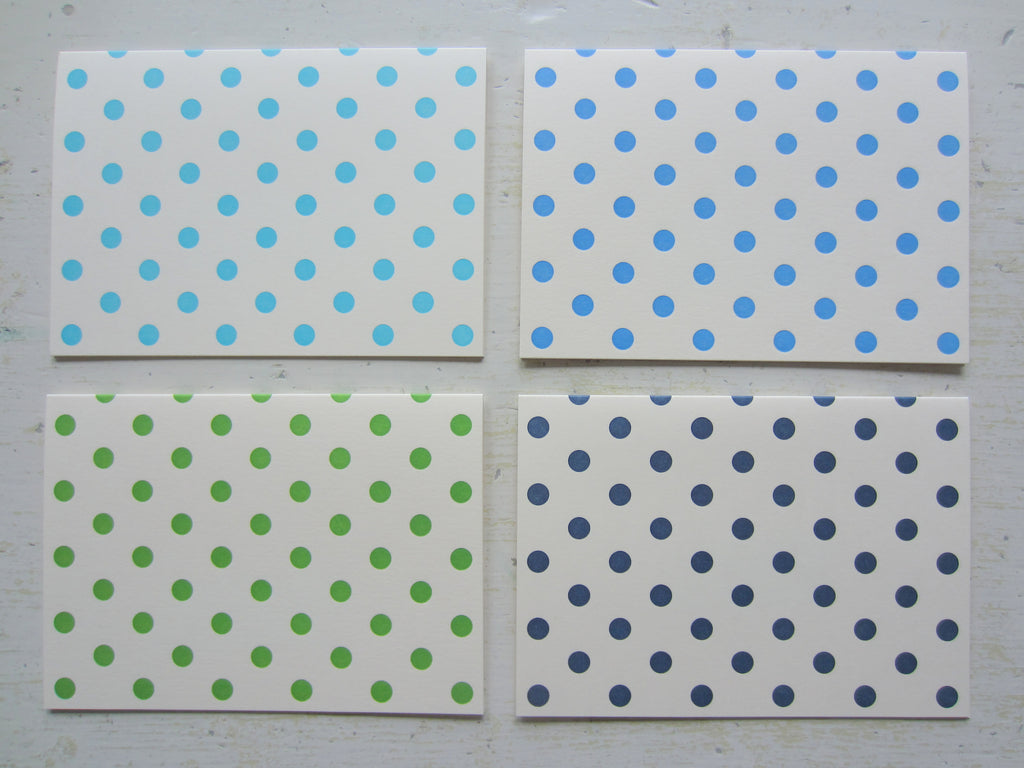 assorted polka dot folded notes