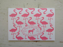 flamingo pink folded notes