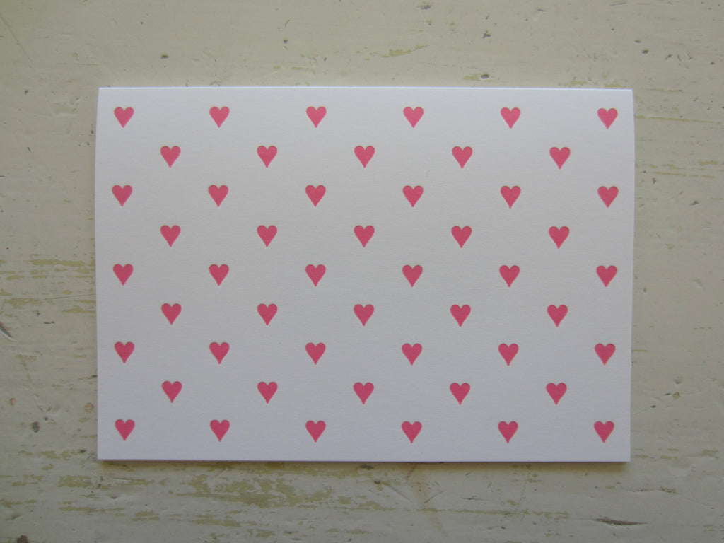 heart pink folded notes