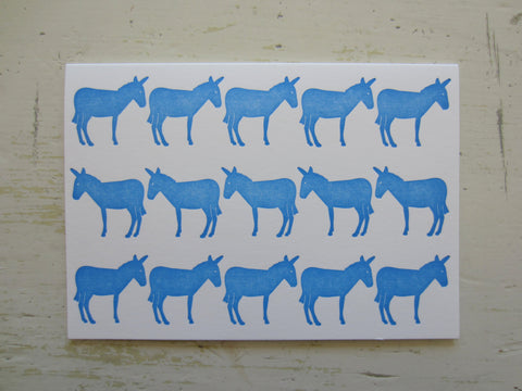 donkey blue folded note