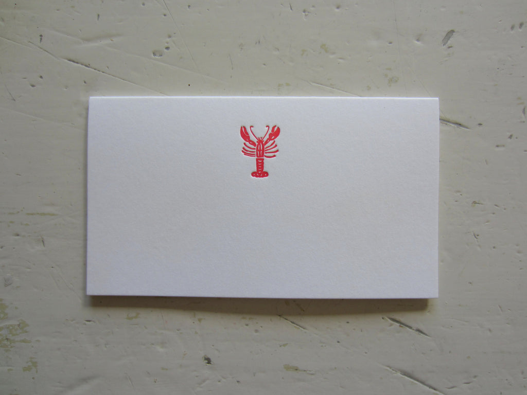 lobster red place cards