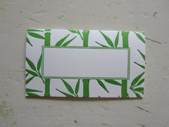 bamboo green place cards