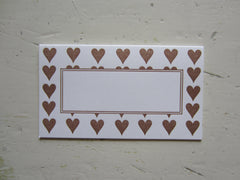 heart brown place cards