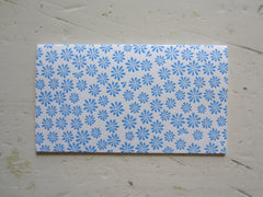 ditsy blue place cards