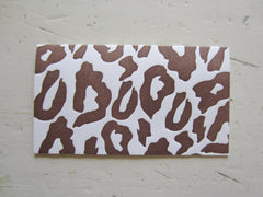 leopard brown place cards