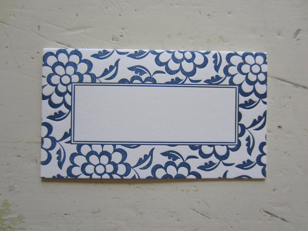 ming navy place cards