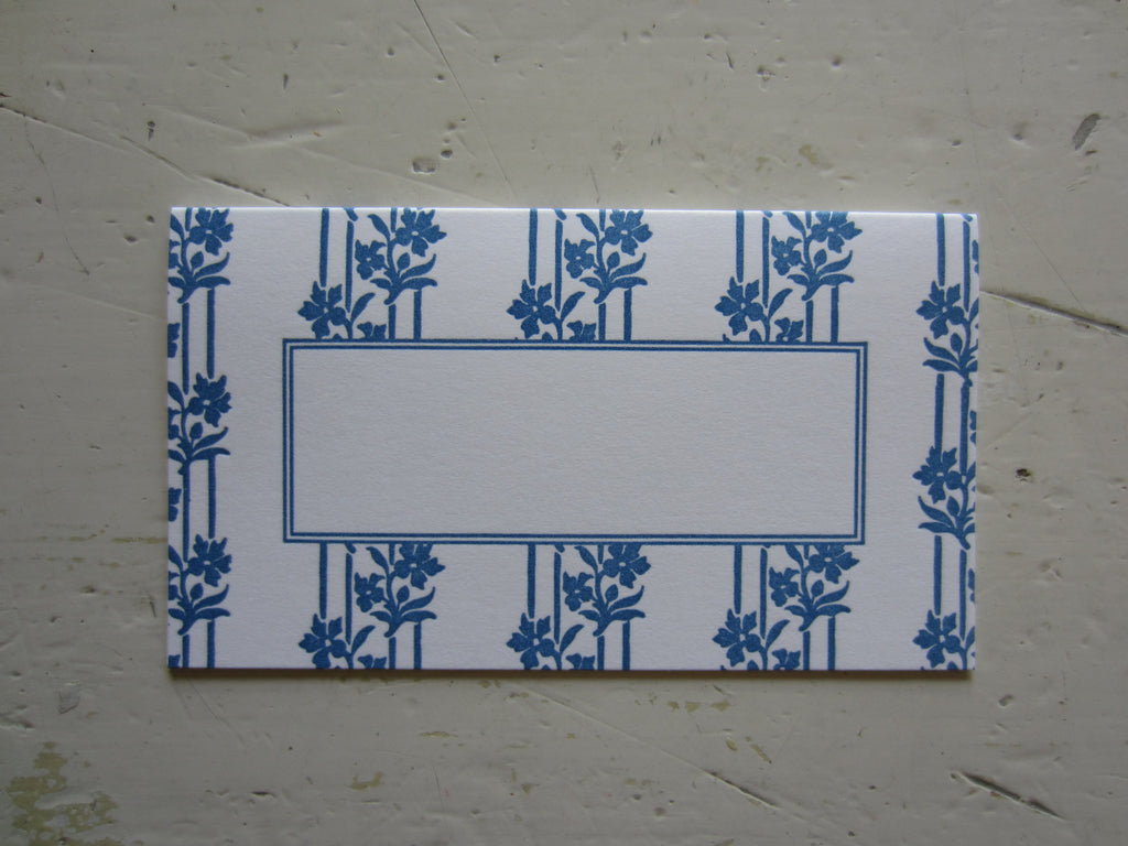 wallpaper french blue place cards