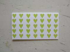 heart chartreuse place cards