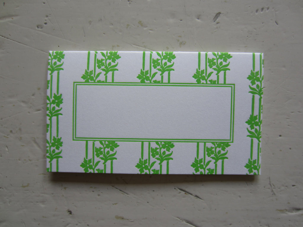 wallpaper bright green place cards